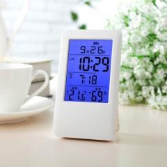 科舰MC501家用夜光室内多功能电子温湿度计适用婴儿房温度计闹钟