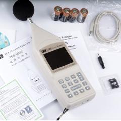 台湾泰仕TES-1358C 1358E即时音频分析仪数显高精度声级计分贝仪