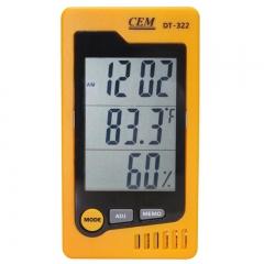 温湿度表 华盛昌温湿度计 温湿度台式表 DT-322温湿度计 黄色)