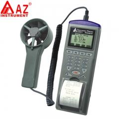 衡欣AZ9871手持式智能型风速风量仪风速计记录器电子风速测试表