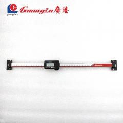 广陆预售机床电子数显竖式横式标尺0-100-150-200-300位移定位 竖式标尺0-100