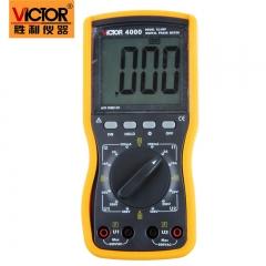 胜利正品 双钳数字相位伏安表VC4000高精度三相相序检测仪相位表