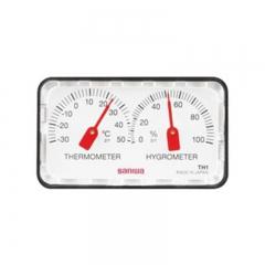 日本三和 TH1 双指针温湿度计