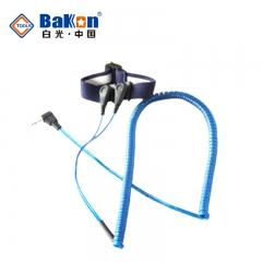 深圳白光 静电手环测试仪有线 手腕带静电手环 双回路PU材质2.5*2..8冰晶蓝