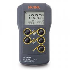 HANNA哈纳沃德 HI93531 微电脑宽范围(1371 °C)双量程温度测定仪