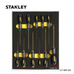 STANLEY史丹利 LT-011-23 11件套三色柄螺丝批工具托