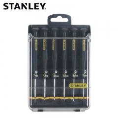 STANLEY史丹利 66-492-23 6件套一字、十字防静电微型螺丝批组套